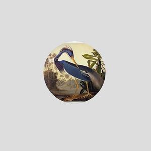 Louisiana Heron Vintage Audubon Bird Mini Button