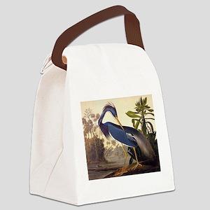 Louisiana Heron Vintage Audubon Bird Canvas Lunch