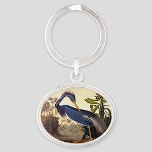 Louisiana Heron Vintage Audubon Bird Keychains