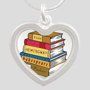 English Major Silver Heart Necklace