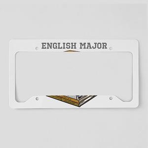 English Major License Plate Holder
