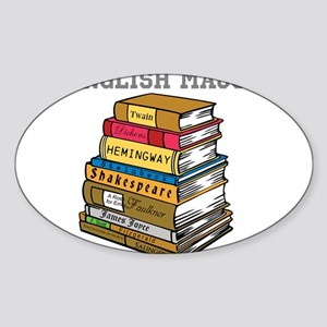 English Major Sticker (Oval)