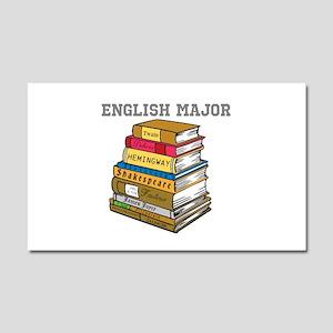English Major Car Magnet 20 x 12