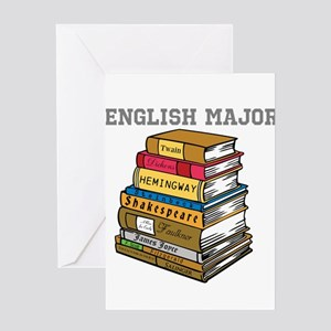 English Major Greeting Card
