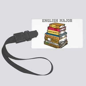 English Major Large Luggage Tag
