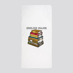 English Major Beach Towel