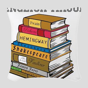 English Major Woven Throw Pillow