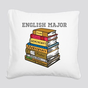 English Major Square Canvas Pillow