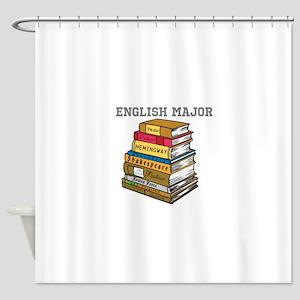 English Major Shower Curtain