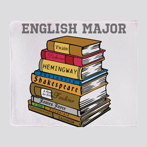 English Major Throw Blanket