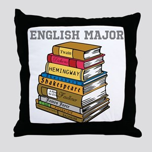 English Major Throw Pillow
