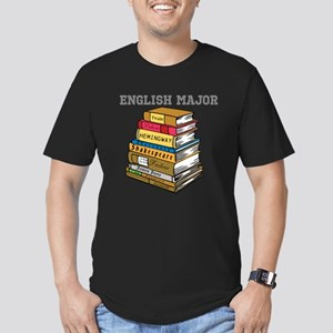 English Major Men's Fitted T-Shirt (dark)