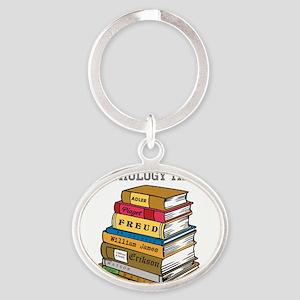 Psychology Major Oval Keychain