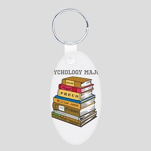 Psychology Major Aluminum Oval Keychain