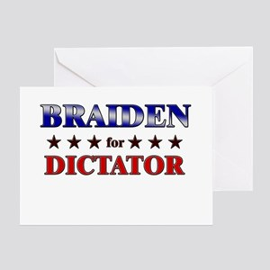 BRAIDEN for dictator Greeting Card
