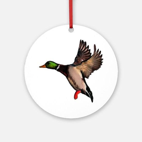 DUCK Round Ornament