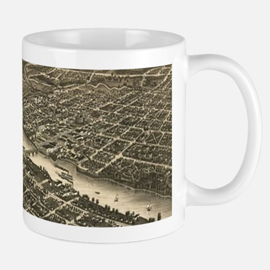 Vintage Map of Rockford Illinois (1880) Mugs