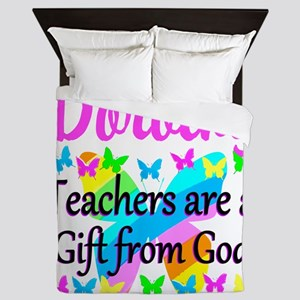 TEACHER PRAYER Queen Duvet