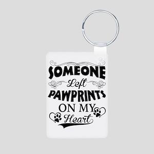 Someone Left Pawprints On Aluminum Photo Keychain