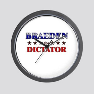 BRAEDEN for dictator Wall Clock