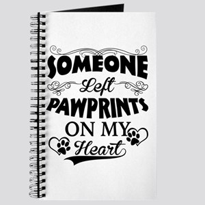 Someone Left Pawprints On My Heart Journal