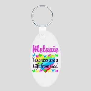 TEACHER PRAYER Aluminum Oval Keychain