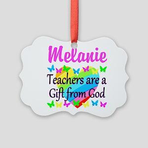 TEACHER PRAYER Picture Ornament
