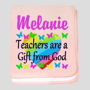 TEACHER PRAYER baby blanket