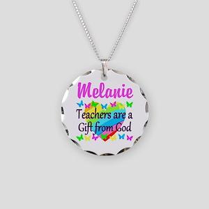 TEACHER PRAYER Necklace Circle Charm