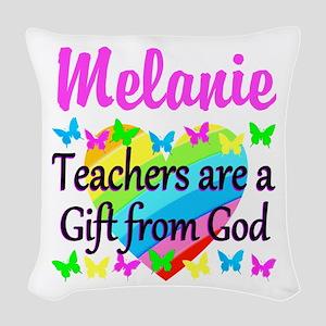 TEACHER PRAYER Woven Throw Pillow