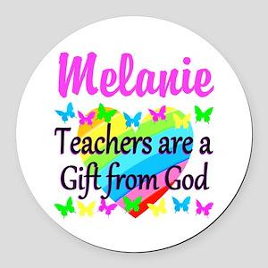 TEACHER PRAYER Round Car Magnet