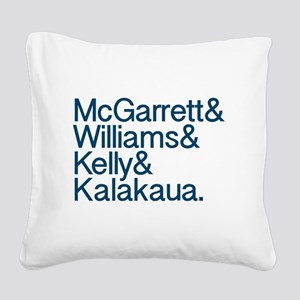 Hawaii 5-0 Names Square Canvas Pillow