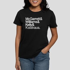 Hawaii 5-0 Names Women's Dark T-Shirt