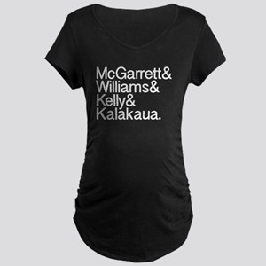 Hawaii 5-0 Names Maternity Dark T-Shirt