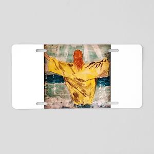 Jesus Baptisim Aluminum License Plate