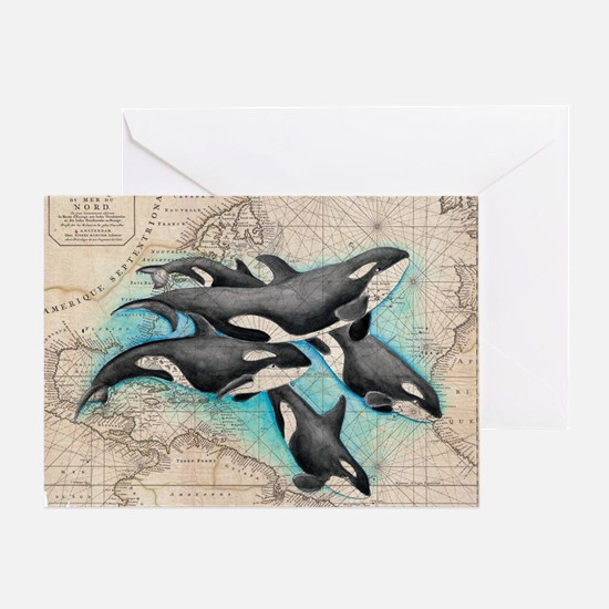 Funny Orca Greeting Card