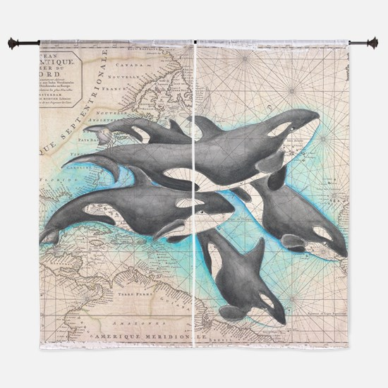 "Funny Water animals 60"" Curtains"