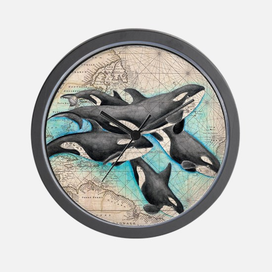 Unique Killer whale Wall Clock