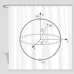 Bloch Sphere Shower Curtain