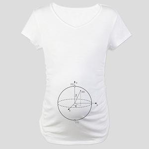 Bloch Sphere Maternity T-Shirt