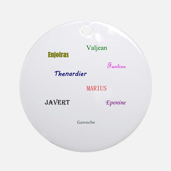 Cute Javert Round Ornament