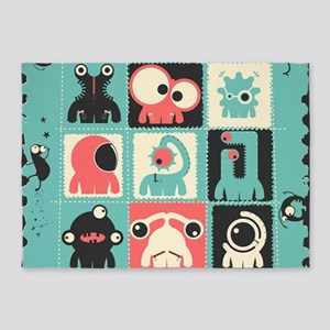 Cute Monster 5'x7'Area Rug