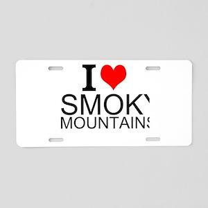 I Love Smoky Mountains Aluminum License Plate