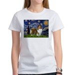 Starry / Sheltie (s&w) Women's T-Shirt