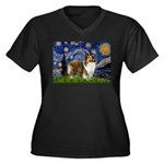 Starry / Sheltie (s&w) Women's Plus Size V-Neck Da