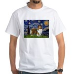 Starry / Sheltie (s&w) White T-Shirt