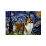 Starry / Sheltie (s&w) Rectangle Magnet (10 pack)