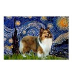 Starry / Sheltie (s&w) Postcards (Package of 8)
