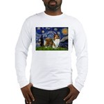 Starry / Sheltie (s&w) Long Sleeve T-Shirt