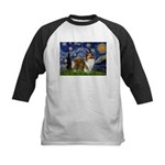 Starry / Sheltie (s&w) Kids Baseball Jersey